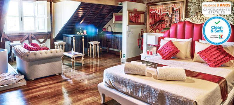 Solar Antigo Luxury Coimbra   Estadia de Romance em Suite King
