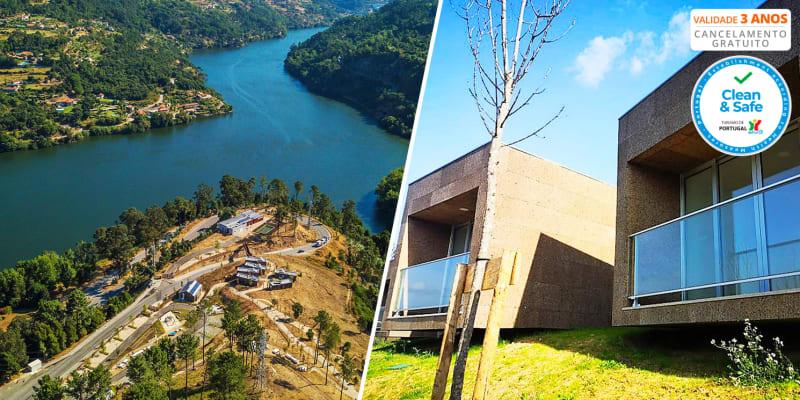 Parque de Campismo de Mourilhe - Cinfães | Estadia Vista Rio Douro em Bungalow com Opção Jantar