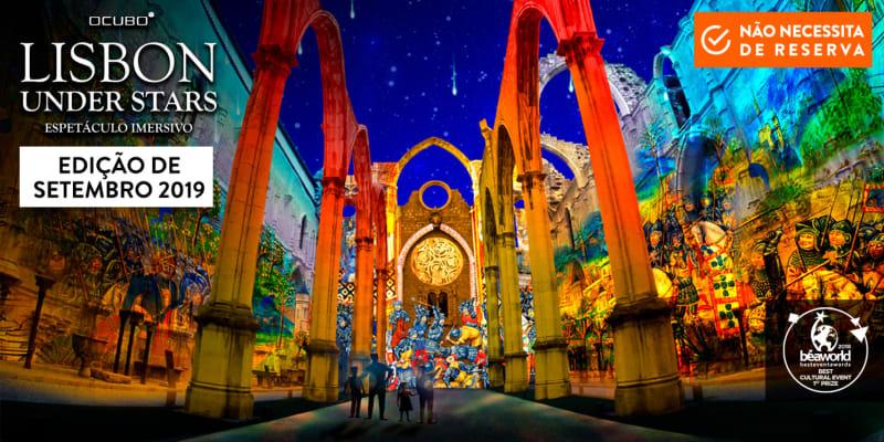 Lisbon Under Stars - Espectáculo Imersivo! Ruínas do Carmo - Lisboa