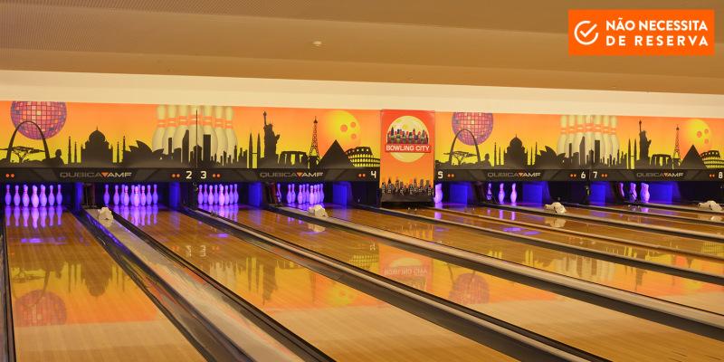 Jogo e Diversão! 4 Pessoas | Bowling City - Colombo