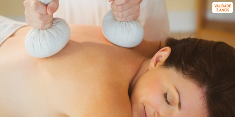 Massagem à Escolha: Aromaterapia, Velas ou Pindas | 40 Min. | Carnaxide