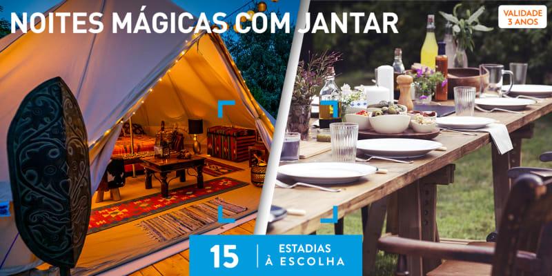 Noites Mágicas com Jantar | 15 Estadias à Escolha