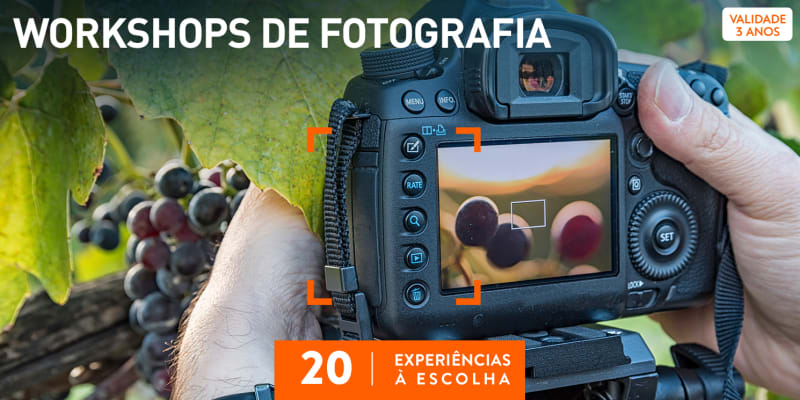 Workshops de Fotografia   25 Experiências à Escolha