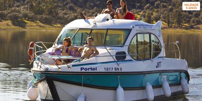 Amieira Marina - Alentejo   Estadia Flutuante em Barco Casa no Alqueva