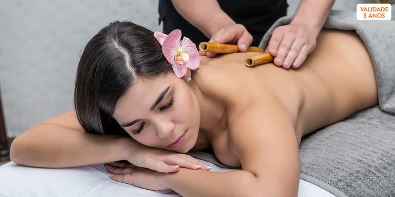 Massagem à Escolha: Óleos, Bambuterapia, Geotermal ou Velas | Boavista