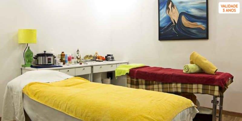 Massagem Japonesa Hanakasumi + Esfoliação + Reflexologia Podal   2 Horas   Seixal