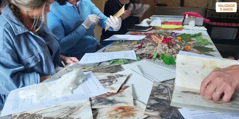 Workshop de Impressão Botânica em Tecido - 4h   1 ou 2 Pessoas   Sintra
