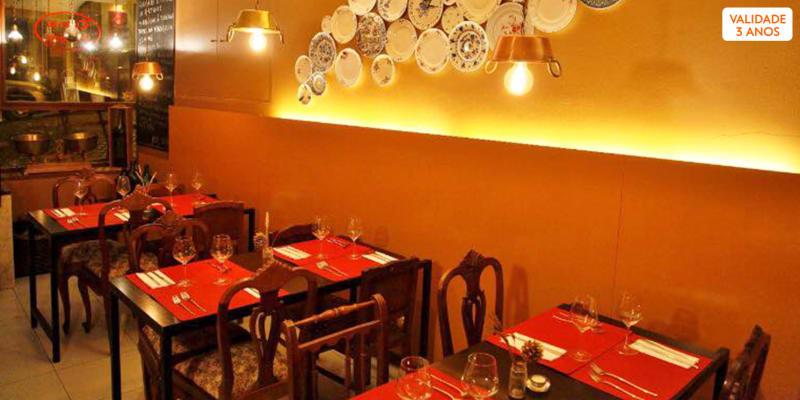 Cheque Gourmet 39,90€ para Dois | Taberna d´Alegria - Avenida da Liberdade