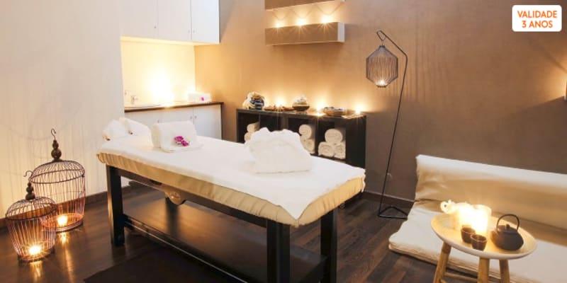 Time For Spa! Massagem Relaxante & Ritual de Chá | 25 ou 50 Minutos | Lumiar