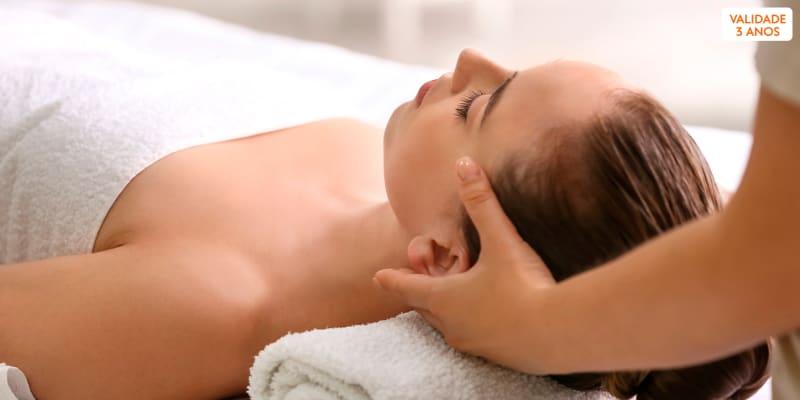 Massagem Relaxamento & Spa Facial Completo - 1 Hora   3 Clínicas Sorria