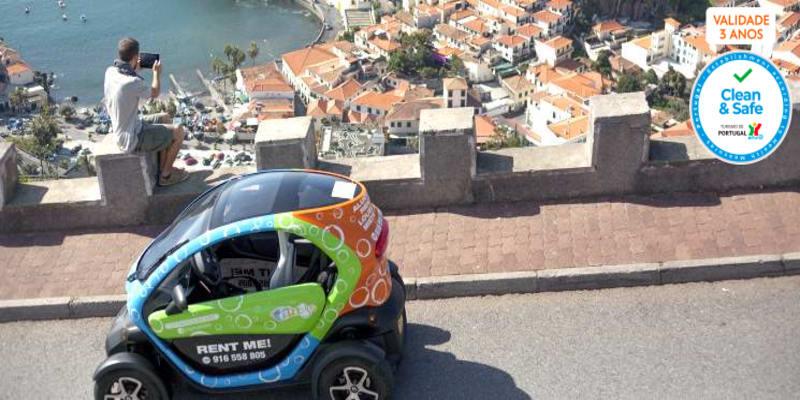 Pela Madeira a Dois   1 Hora de Passeio em Carro Eléctrico c/ Rotas & GPS