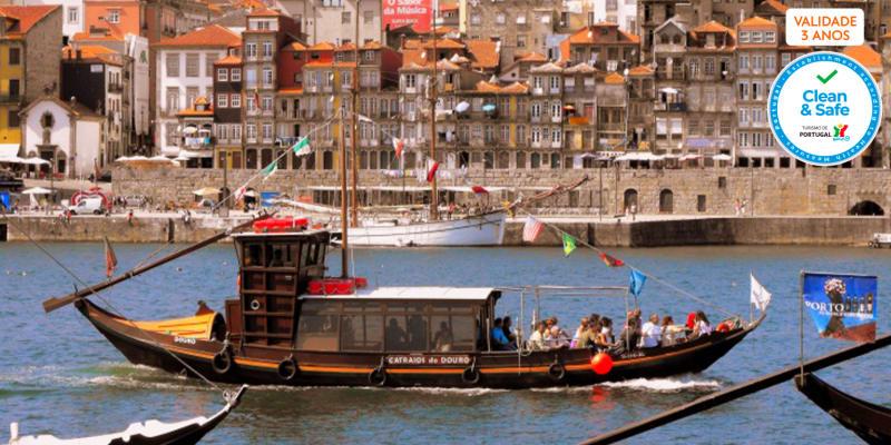 Cruzeiro das Pontes em Barco Rabelo | Passeio no Douro para 2 Pessoas - 50 Minutos