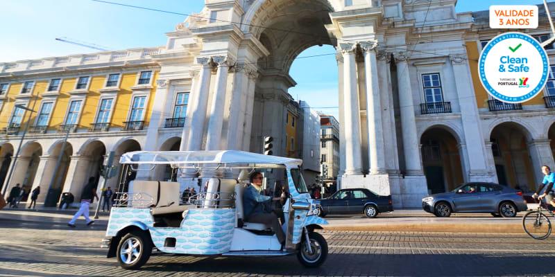 Passeio de TukTuk 100% Ecológico | Especial Família - 4 a 6 Pessoas | Lisboa