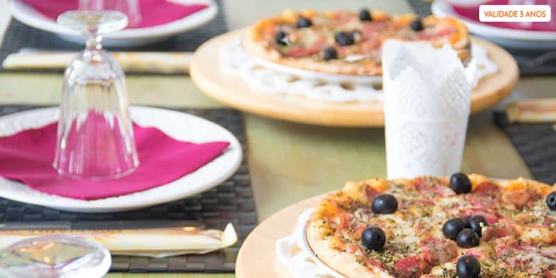 Pizza Grande & Sangria de Lambrusco para Dois no Dona Azeitona   Sintra