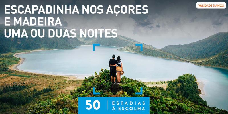 Escapadinha nos Açores e Madeira - Uma ou Duas Noites   50 Estadias à Escolha
