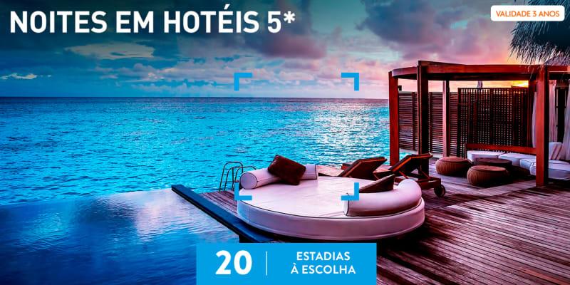 Noites em Hotéis 5* | 20 Estadias à Escolha