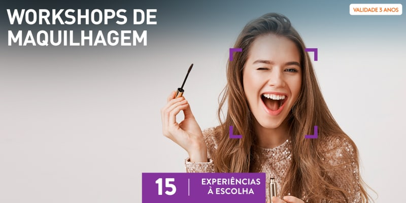 Workshops de Maquilhagem   15 Experiências à Escolha