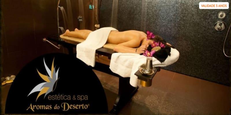Duche Vichy + Massagem + Ritual Chá   1 Hora   Aromas do Deserto Braga
