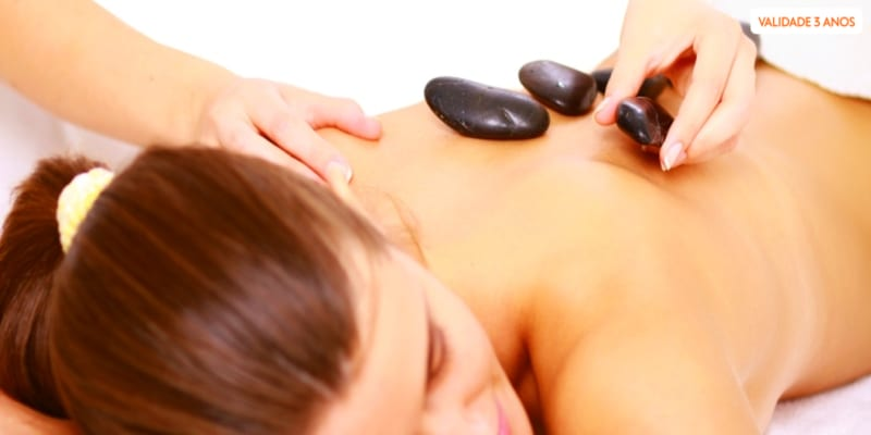 Massagem de Pedras Quentes - Momento Relax | 1h | Oeiras ou Lisboa