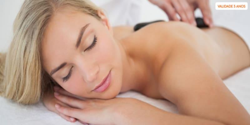 Massagem Hot Stones a Corpo Inteiro + Champanhe e Frutas | 1h - Porto