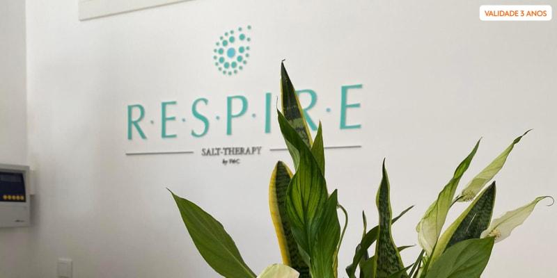 1 ou 3 Sessões de Haloterapia c/ Consulta de Avaliação   Respire Salt Therapy by V&C - Lisboa