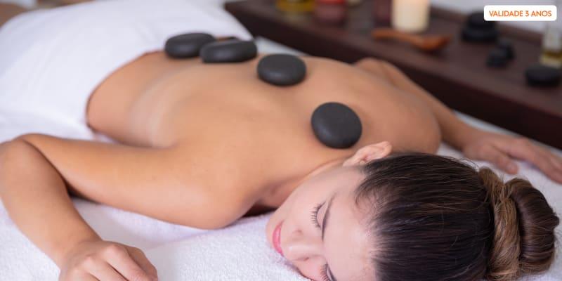 Momento Ideal de Bem-Estar! Massagem com Pedras Quentes - 50 Min | Avenida da Liberdade