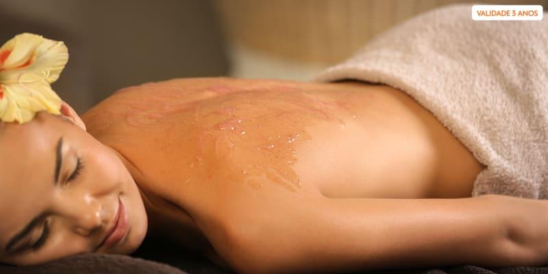 Body Scrub c/ Massagem & Welcome Ritual - 1h15   1 ou 2 Pessoas   Sintra