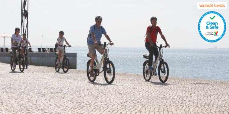 Passeio de Bicicleta Eléctrica a Dois | Lisboa - 3h | 0% Transpiração, 100% Diversão!