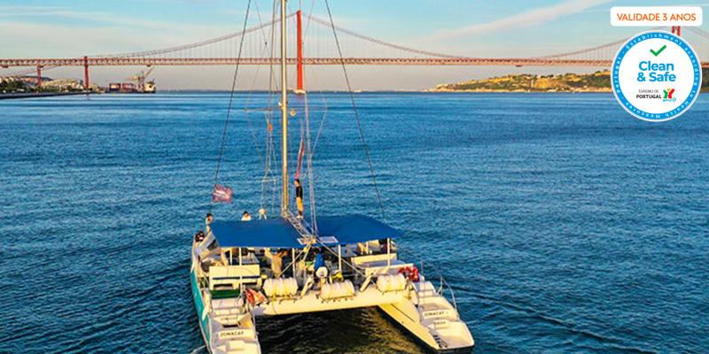 Sunset de Catamaran no Tejo para 2 Pessoas - 2 Horas   Sardinha do Tejo