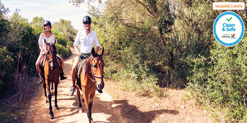 Dia Romântico na Quinta com Almoço para Dois & Iniciação ou Aula de Equitação | Alenquer