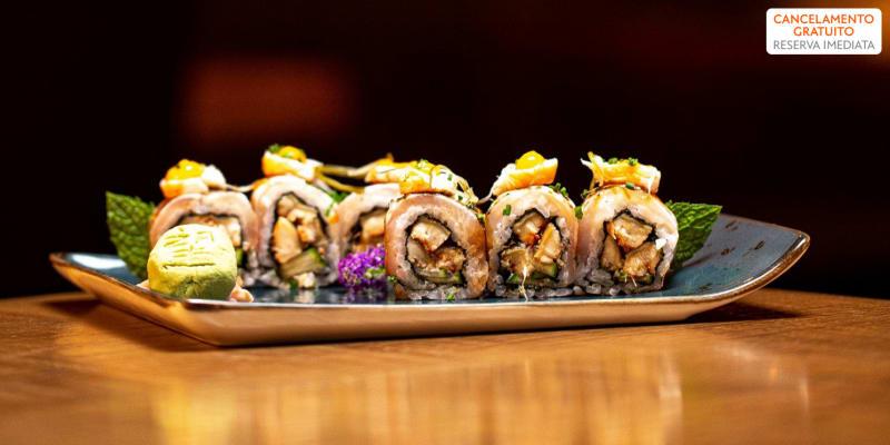 Nozomi Sushi Bar   48 Peças de Sushi & Sangria de Espumante para Dois   Alcântara
