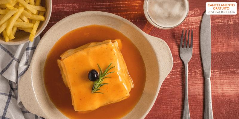 Menu Completo c/ Francesinha para Dois   Alkimia Grill - Vila Nova de Gaia