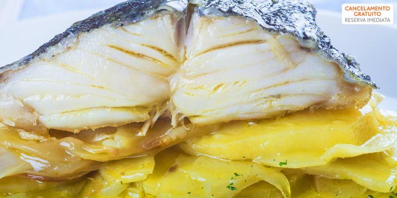 Menu Completo para Dois c/ Bacalhau Assado na Brasa | O Lavrador - Viana do Castelo