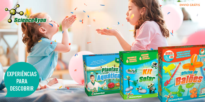 Brinquedos Educativos Science4You - Plantas Aquáticas + Oficina Balões + Kit Solar 6 em 1   Entrega Grátis