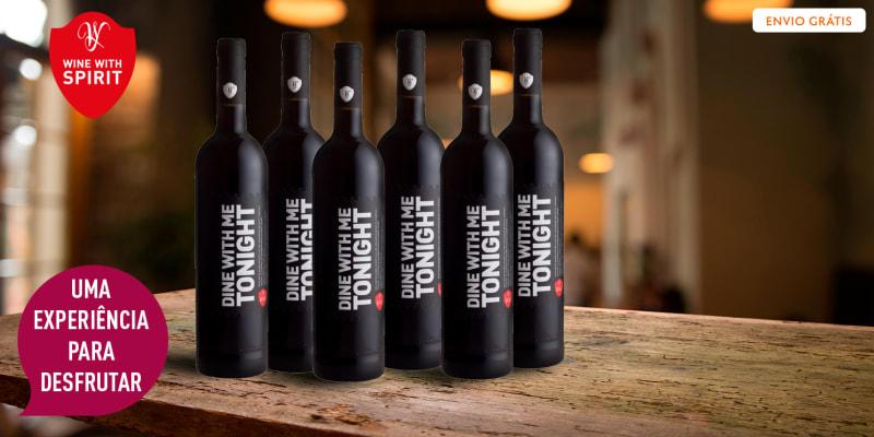 6 Garrafas de Vinho Dine With Me Tonight Tinto | Entrega Grátis! Wine With Spirit