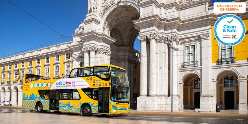 Belém Lisbon Bus Tour! Do Centro de Lisboa a Belém em Autocarro Panorâmico   Yellow Bus