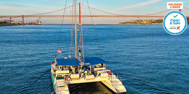 Sunset de Catamaran no Tejo para 2 Pessoas - 2 Horas | Sardinha do Tejo