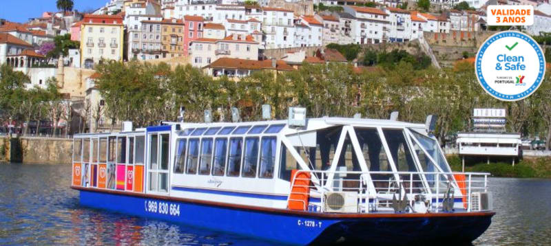 Coimbra à Vista! Passeio de Barco no Rio Mondego a Dois - 50 Min.