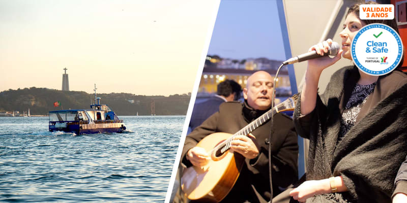 «Fado On The River» Cruzeiro Turístico no Tejo com Petisco e Bebida | 1 Hora | Lisboat