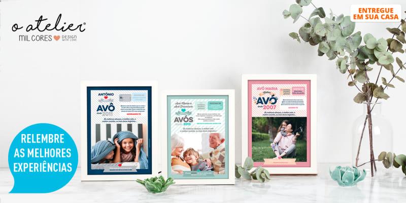 Quadros Personalizados c/ Foto e Texto para os Melhores Avós do Mundo   Entregue em Casa