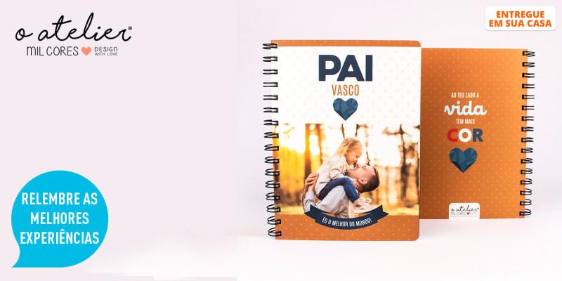 Notebook Personalizável c/ Foto e Nome para os Melhores Pais do Mundo | Entregue em Casa