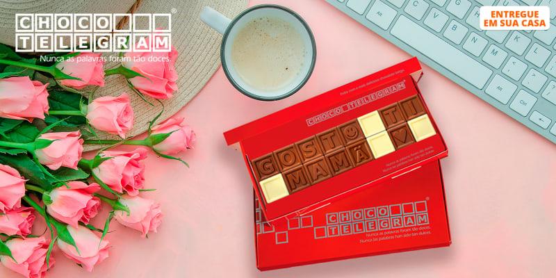 ChocoTelegram | Chocolate com Mensagem Personalizada - 8 a 60 Quadrados | Entregue em Casa