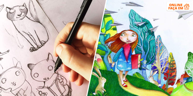 Workshop Online Individual de Pintura e Desenho para Crianças - 1h