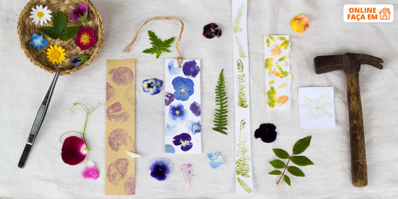Aula Online em Directo Para Toda a Família | Impressão Botânica em Papel e Cartão - 2h | Kriya Atelier