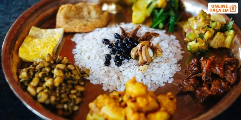 Aula de Culinária Vegetariana Online em Directo | Cozinhas do Mundo – Nepal | Raquel Vida