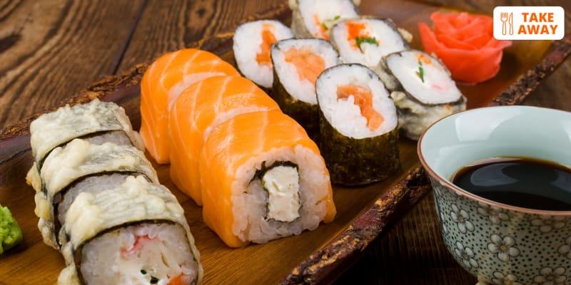 Take-Away! Sushi, Sashimi e Hots: 46 Peças + Sobremesa para Dois | Supremo Sushi - Carcavelos