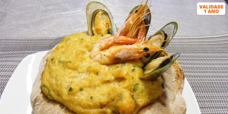 Açorda de Mariscos no Pão para 2 | Portofino Restaurante - Sesimbra