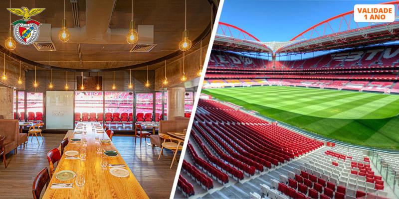 Presente SLB para Dois! Cachecol + Visita ao Estádio & Museu + Cheque Gourmet Luz by Chakall | Lisboa