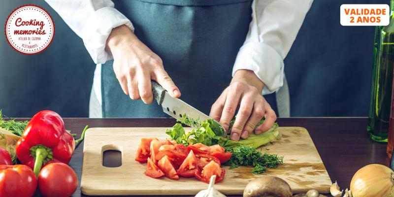 Workshop de Gastronomia à Escolha c/ Refeição - 4h | Cooking Memories - Cascais