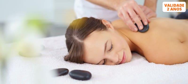 Massagem Mix 3 em 1: Geotermal + Aromaterapia + Head | 1 Hora | Av. 5 Outubro